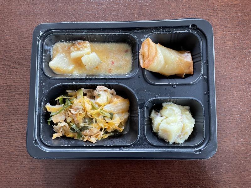 豚ちり鍋風弁当《たんぱく&塩分調整》を食べてみた感想・実食レポ!